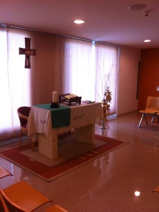 Catholic altar in a Spanish hospital